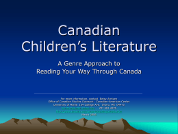 Canadian Children's Literature