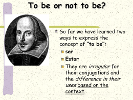 To be or not to be?