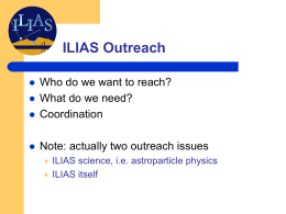 ILIAS Outreach