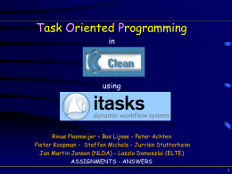 i-Tasks - interactive workflow tasks for the WEB