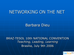 NETWORKING THE NET