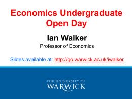 Economics Undergraduate Open Day