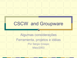 CSCW and Groupware
