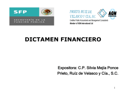 DICTAMEN FINANCIERO Y ANALISIS FINANCIERO