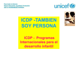 Diapositiva 1 - International Child Development Programme