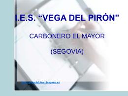 Diapositiva 1 - IES VEGA DEL PIRON