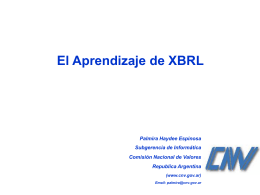 El Aprendizaje de XBRL - Inicio
