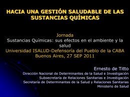 Diapositiva 1 - Ambiente y Desarrollo Sostenible