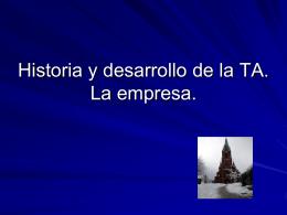 Historia y desarrollo de la TO.