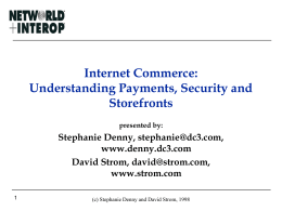 Internet Commerce: Understanding Payments, Security …