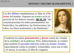NOVENO Y DECIMO MANDAMIENTO, 1