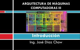 ARQUITECTURA DE MAQUINAS COMPUTADORAS III
