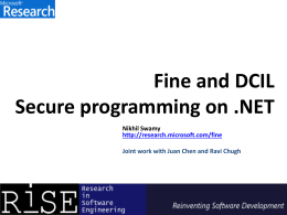 FINE + DCIL: End-to-end Verification of Security Enforcement