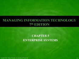 Ch 5 - Enterprise Systems