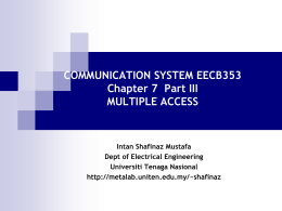 COMMUNICATION SYSTEM EEEB453