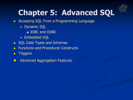 Chapter 4: SQL - University of North Texas