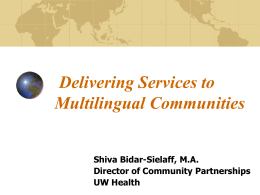 An Introduction to Culturally Competent Health Care