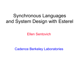 Synchronous Languages