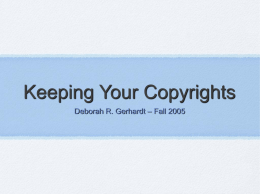 Keeping Your Copyrights