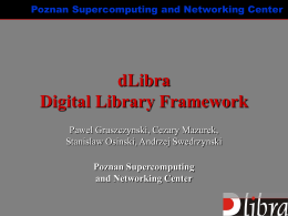 dLibra Digital Library Framework