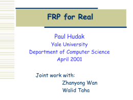 FRP for Real - Computer Science