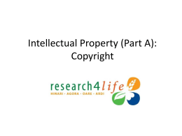 Intellectual Property: Copyright & Plagiarism