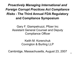 Internal and External Perspective on Commercial Compliance