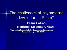 Europeanisation of Central-regional relations in Spain:
