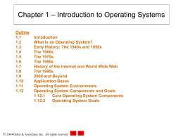 Chapter 1: Introduction to Operating Systems