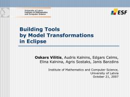 Eclipse rīku kopa modelēšanai