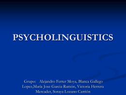 PSYCHOLINGUISTICS - Proyecto Webs