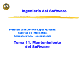Mantenimiento del software - Universidad de Tarapac&#225