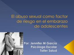 El abuso sexual como factor de riesgo en el embarazo de