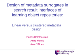 Design of metadata surrogates in search result interfaces: