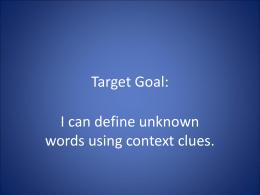 Target Goal: