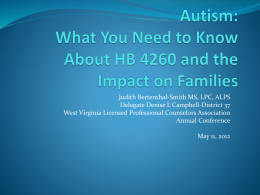 Autism - West Virginia Licensed Professional Counselors