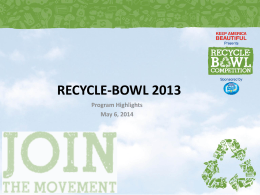 RECYCLE-BOWL 2012