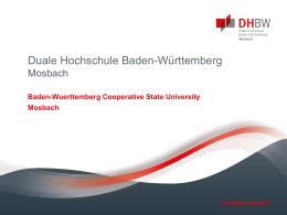 Folie 1 - DHBW Mosbach