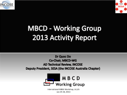 MBCD - Working Group 2012