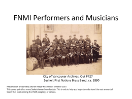 FNMI Performers and Musicians