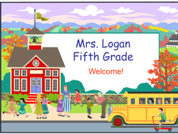 Mrs. Logan Fifth Grade - North Ottawa County Schools