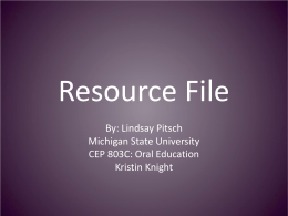 Resource File - Michigan State University
