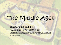 The Middle Ages - Brookwood High School
