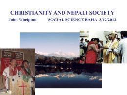 CHRISTIANS IN THE HIMALAYAS John Whelpton CUHK …
