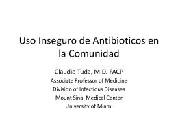 Uso Inseguro de Antibioticos en la comunidad