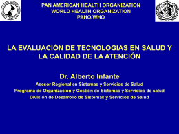 PAN AMERICAN HEALTH ORGANIZATION WORLD …