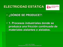 ELECTRICITAT ESTATICA - Bienvenido a RIDSSO