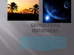 Entidades del geosistema