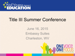 Title III Summer Conference