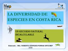 LA DIVERSIDAD DE ESPECIES EN COSTA RICA